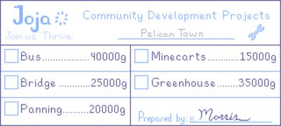 Joja Community Development Form - Stardew Valley Wiki