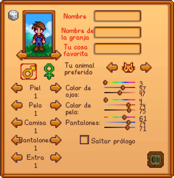 Character creation menu ES.png